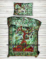TREE OF LIFE Indian Duvet Doona Cover Mandala Blanket Quilt Cover Bedding Set