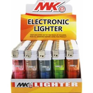 MK Electronic Classic Full Size Disposable Multi Color Lighters 50ct -Full Case