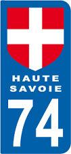 1 Sticker style plaque AUTO adhésif département 74