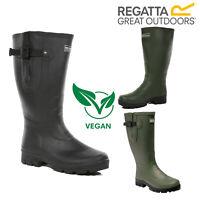 Regatta Mens Rivington Wellington Boots Waterproof Vegan Outdoor Rubber Wellies