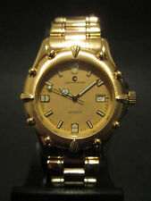 A97 NEW MEN'S JB CHAMPION Gold Dress Steel Band WATCH VINTAGE S. Steel