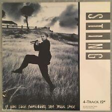 "STING - If You Love Somebody Set Them Free - 12"" single (Vinyl LP) A&M SP-12132"