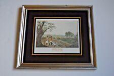 """Original engraving by Robert Havell, """"Partridge Shooting"""" 1800-1899, sport hunt"""