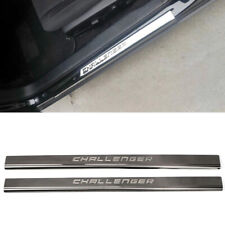 Stainless Steel Outer Door Sill Scuff Plate 2pcs For Dodge Challenger 2015-2019