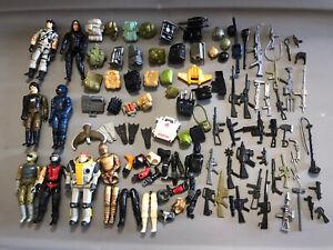 Vintage Gi JOE Figures Weapons Accessories Huge Lot ARAH 1980's