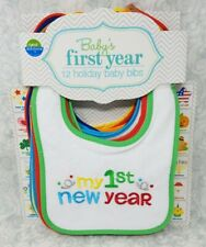 Neat Solutions Embroidered Holiday Infant Bib Set 12 Pack Baby's First Year