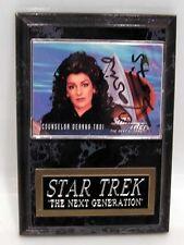 STAR TREK TNG Autographed CARD Plaque MARINA SIRTIS
