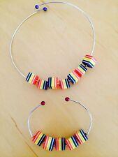 Wire Chocker And Bracelet Set