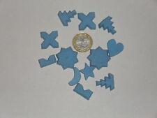 220 grammes de mosaïque en plâtre bleu forme romantique