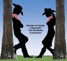 *NEW* Lawn Art Yard Shadow/Silhouette - Leaning Cowboy/Cowgirl Set