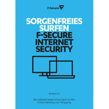 F-Secure Internet Security 2018, 1 PC, 1 Year License - NEW DOWNLOAD VERSION