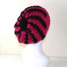 PRINTED  INSTRUCTIONS - SUPER CHUNKY  STRIPE SWIRL SLOUCH HAT KNITTING PATTERN