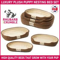 Puppy Dog Bed Washable Super Soft Luxury Cozy Plush Nesting Small Medium Large