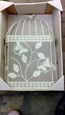 SHABBY CHIC BIRD CAGE TEA LIGHT/ CANDLE HOLDER