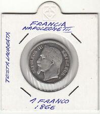 NAPOLEONE III 1 franco argento silver 1866  molto ben conservato  prezzo super