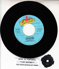 """LES BAXTER  April In Portugal & The Poor People Of Paris 7"""" 45 rpm record NEW"""