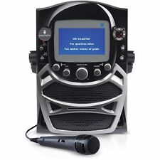 "Singing Machine CD G Karaoke Bluetooth System Built-in 5"" Color TFT Monitor"