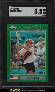 1991 Netpro Tennis Andre Agassi #3 SGC 8.5 NM-MT+