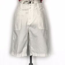 Lee White Relaxed Fit Bermuda Shorts
