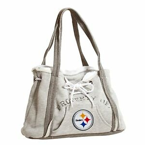 Pittsburgh Steelers NFL Football Team Ladies Embroidered Hoodie Purse Handbag