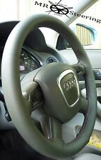 FITS AUDI A6 C4 C5 (95-04)  REAL DARK GREY ITALIAN LEATHER STEERING WHEEL COVER