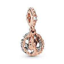 925 Sterling Silver Charm Bead Princess Tiana Dangle Charm Fit European Bracelet