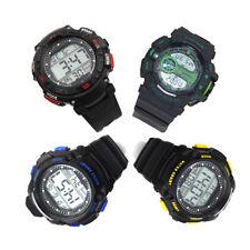 Reloj pulsera digital brujula hora 12/24 alarma resistente al agua