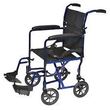 "Pro Basics 9201BL  Lightweight Folding Transport Chair - Wheelchair19"" Seat"