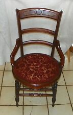 Solid Walnut Carved Dinette Chair / Sidechair (Sc216)