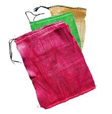 More details for net bags sacks leno 45 x 60cm drawstring carrots onions bulbs veg fruit logs