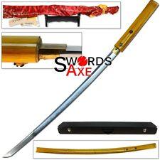 Kawashima Steel Shikomizue Koshirae 1095 HC Forged Clay Tempered Katana Sword