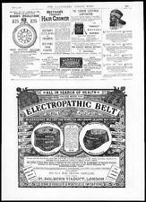 1884 ADVERTISING - ELECTROPATHIC BELT Pall Mall Electric Beethams Hair (187)