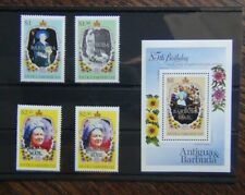 Barbuda 1985 Life & Times of Queen Elizabeth Queen Mother set & M/S MNH