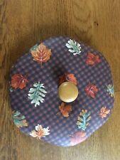 Longaberger Sage Booking Basket Lid Fall Gingham Hexagon