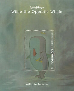 (67969) Dominica Willie Operatic Whale Disney minisheet MNH 1992