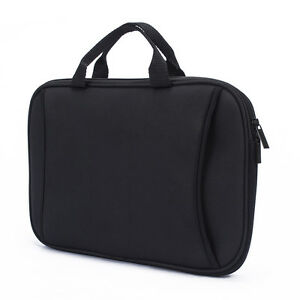 """Black Neoprene Tablet Sleeve Pouch Case Cover Carrying Bag For 10.2"""" Apple iPad"""