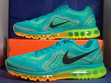 Nike Air Max 2014 Turbo Green Black Atomic Orange Volt SZ 10.5 ( 621077-301 )