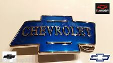 Blue chrome Color Classic CHEVROLET logo metal Belt Buckle gift CHEVY RACING