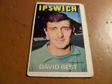 A & A.C. Chicle Fútbol Tarjeta 1972/73 Rojo Naranja Nuevo David Ipswich Town mejor