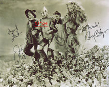 THE WIZARD OF OZ Garland Lahr Bolger Haley Signed Autographed Reprint 10x8 Photo