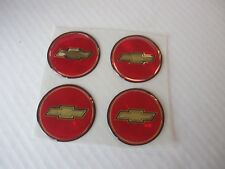 4 NEW CHEVROLET RED/ GOLD DECALS FOR EL CAMINO MALIBU 1.75 OD