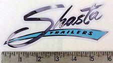 Vintage Shasta blue trailer RV sticker decal