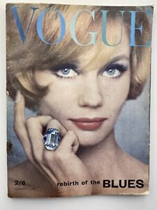 1962 February Vogue noted Jean Shrimpton pic COMPLIMENTARY GIFT WRAP