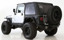 Smittybilt Bowless Combo Top For 97-06 Jeep Wrangler TJ Black W/Tinted Window