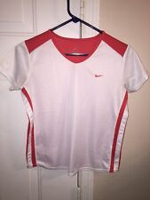 Women's NIKE Running Dri Fit Athletic Workout T-Shirt size S (4-6) White F15