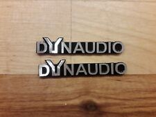 2x dynaudio Speaker Sticker Emblem Brushed Aluminium 3D Badge Logo uk Car Home