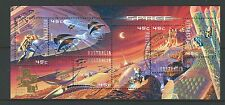 AUSTRALIA 2000 SPACE MINIATURE SHEET HONG KONG OVERPRINT FINE USED