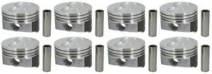 Hyper 350 Chevy 4.030 Coated Skirt Press or Floater Piston Flattop SBC H345DCP30