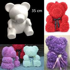 35 cm Large Polystyrene Styrofoam White Craft Foam Bear DIY Valentine's Day Gift