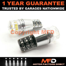 2X WHITE W5W 501 SIDELIGHT NUMBER PLATE INTERIOR REPEATER 1 SMD LED BULBS CANBUS